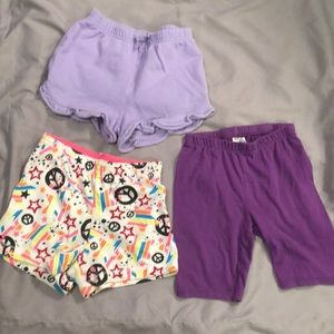 Other - 💜 5/$25 bundle of 3 toddler girl's shorts